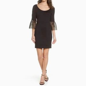 FRENCH CONNECTION Sz 6 Black Lula Dress Bell
